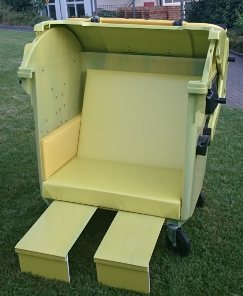 Ausstellungsstück Sonnentonne grün/gelb